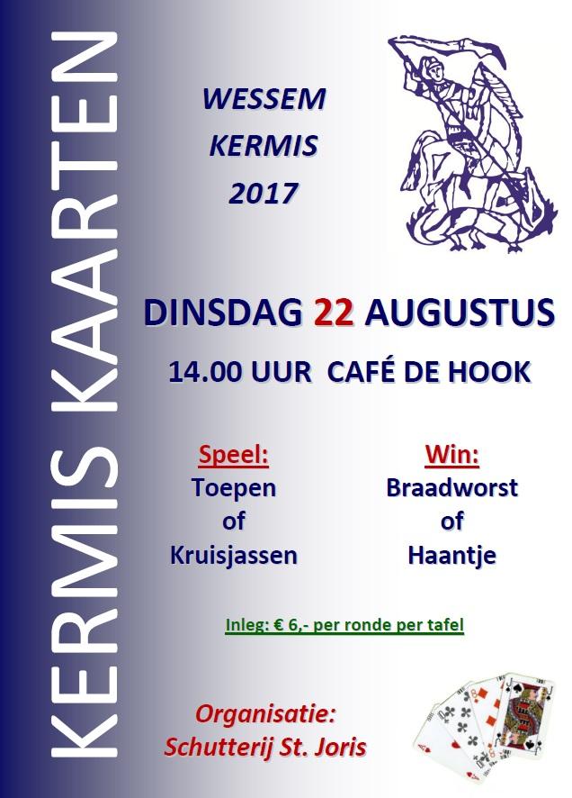 Poster kermiskaarten 2017